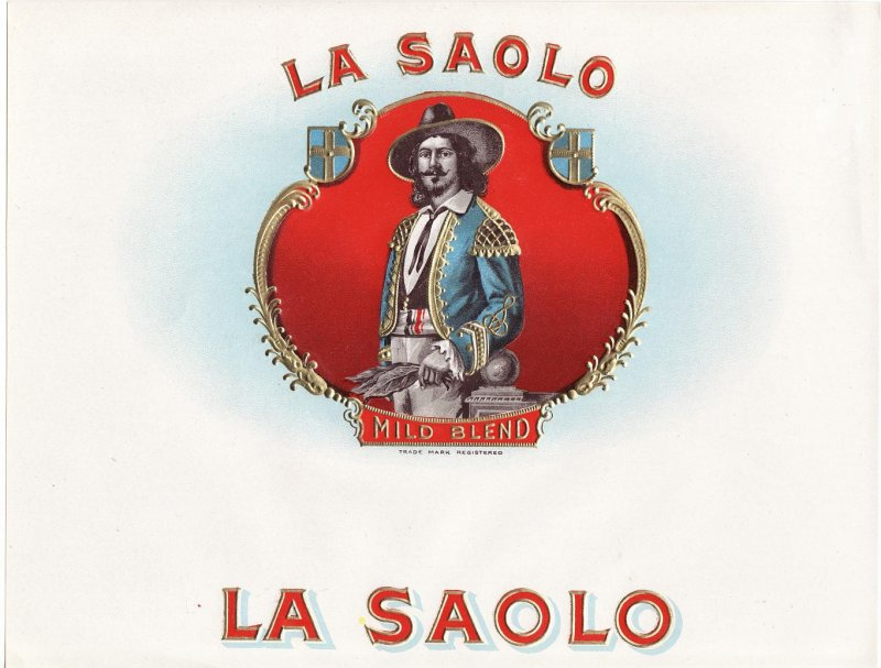 La Saolo Inner Cigar Box Label, 1920s