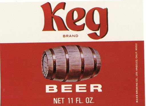 Keg Brand Beer Label
