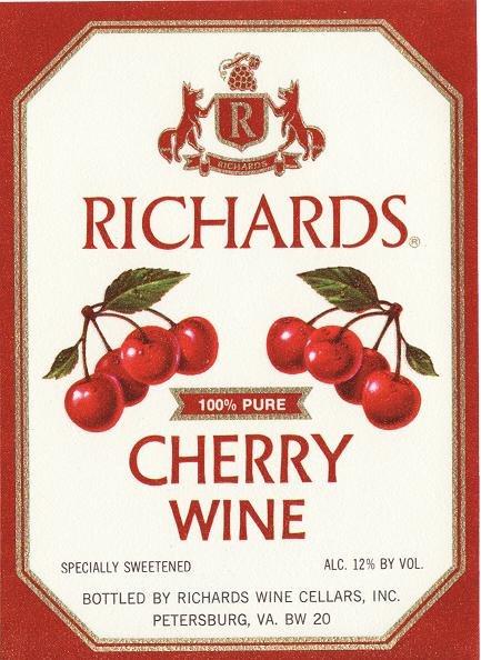 Richards Cherry Wine Label