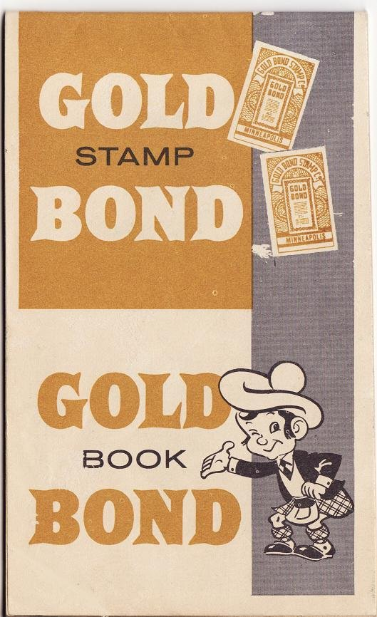 Gold Bond Trading Stamp Saver Book, Back Cover