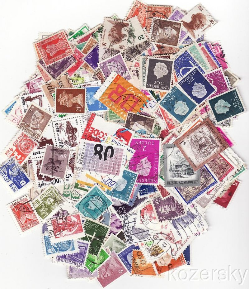 WorldWide Stamp Packet Collection, 1000 different worldwide stamps