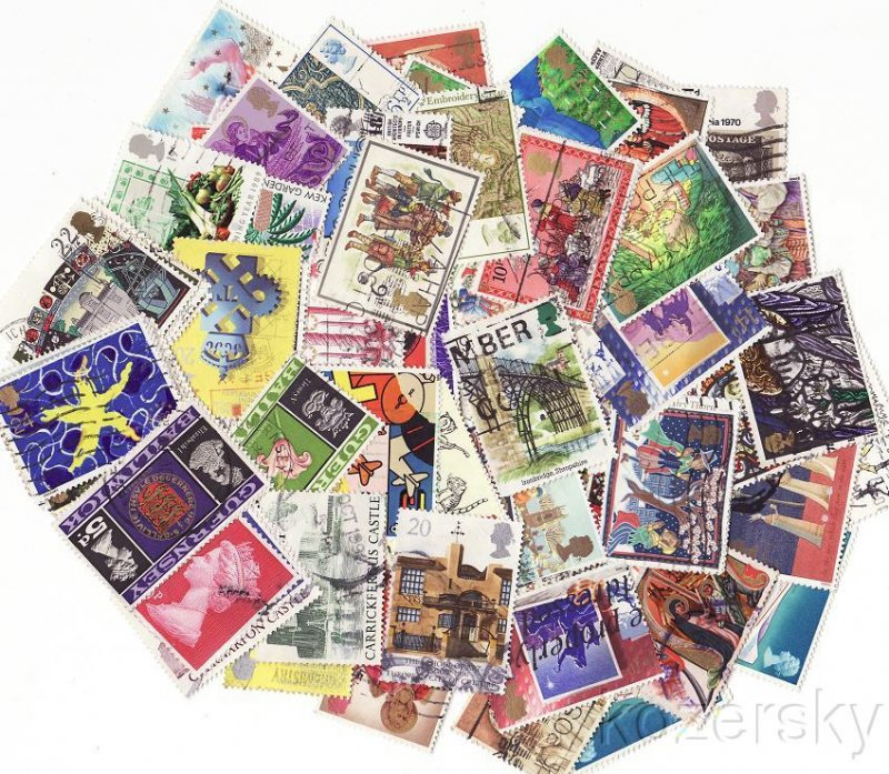 Great Britain Pictorials Stamp Packet Collection, 200 diff.
