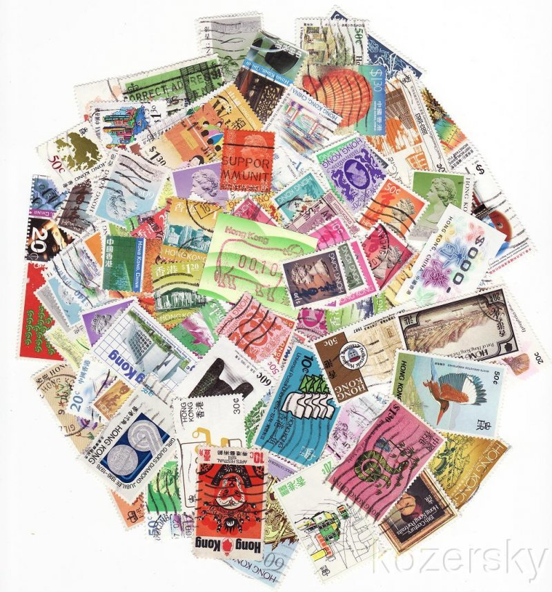 Hong Kong Stamp Packet Collection, 300 diff.