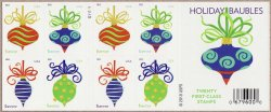 Thumbnail of U.S. 4571-74, Holiday Baubles, 2011 Christmas Stamps, Pane/20, MNH