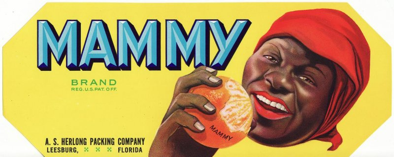MAMMY Brand Orange Crate Label