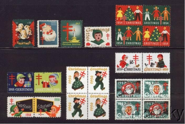1950-59 U.S. Christmas Seal Collection, As Required