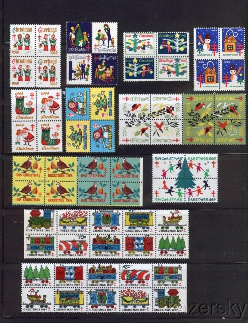 1960-69 U.S. Christmas Seal Collection, As Required