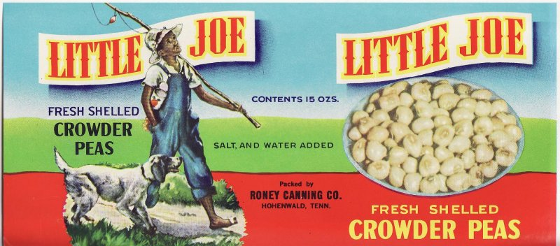 Little Joe Tennessee Crowder Peas Can Label