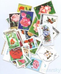 Thumbnail of Roses Topical Stamp Packet, 100 diff.