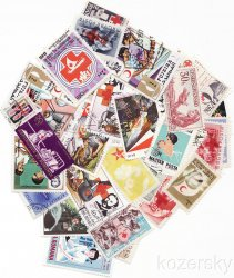 Thumbnail of Red Cross Topical Stamp Packet, 100 diff.