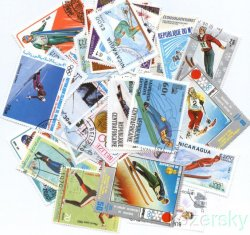 Thumbnail of Ski, Skiing Topical Stamp Packet, 100 diff.