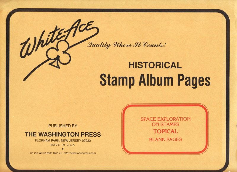 Space on Stamps, White Ace Topical Stamp Album Pages