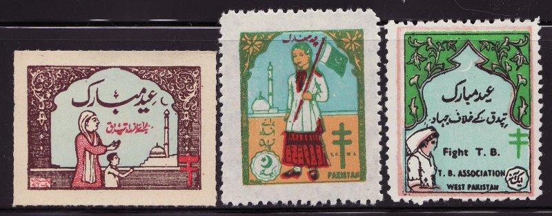 Pakistan 11-13, 1956-58 Pakistan TB Charity Seal Collection