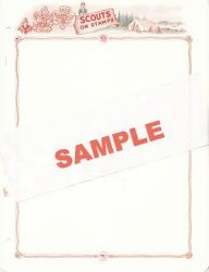 Scouts on Stamps, White Ace Topical Stamp Album Pages