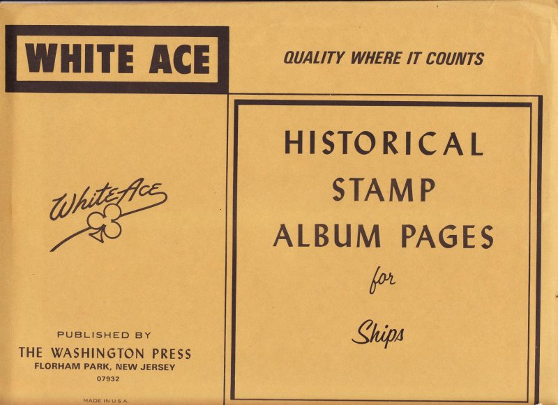 Ships on Stamps, White Ace Topical Stamp Album Pages
