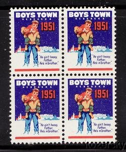 Boys Town 22.4, 1951 Boys Town Charity Seals, block/4