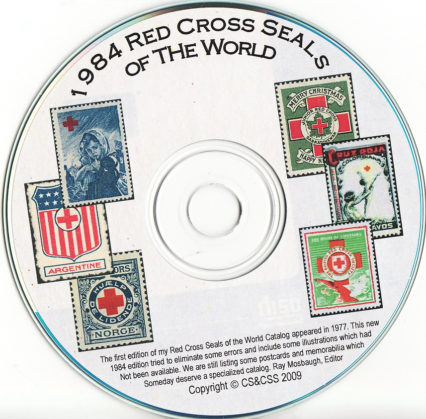 Red Cross Seals of The World, Charity Seals, Mosbaugh's Catalog, 1984 Ed. CD