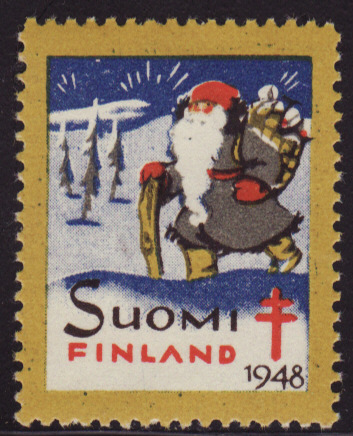 Finland 25, 1948 Finland TB Charity Seal