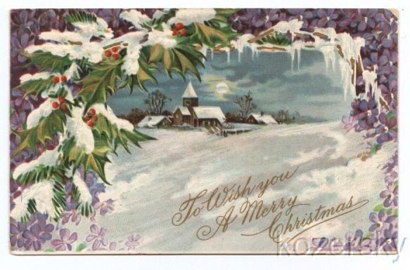Christmas Postcard 1910 Ohio Postmark