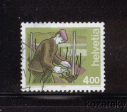Thumbnail of Switzerland 846, Wine Grower Stamp, 4fr, NH