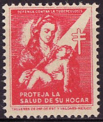 Thumbnail of Mexico 1.1, 1943 Mexico TB Charity Seal, MNH