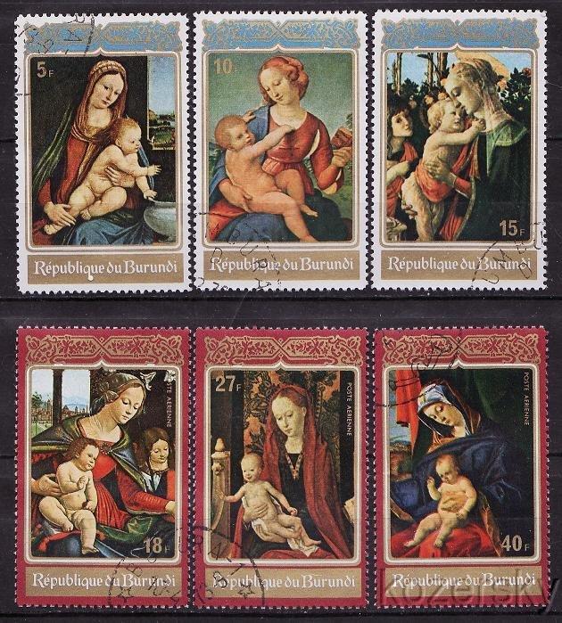 Burundi 408-10, C165-67, Christmas, Madonna and Child