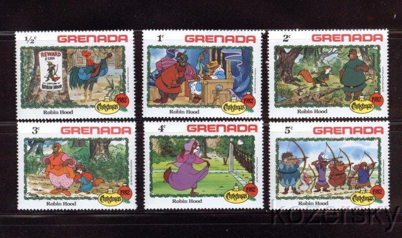 Grenada, 1127-32, Disney Robin Hood, Christmas