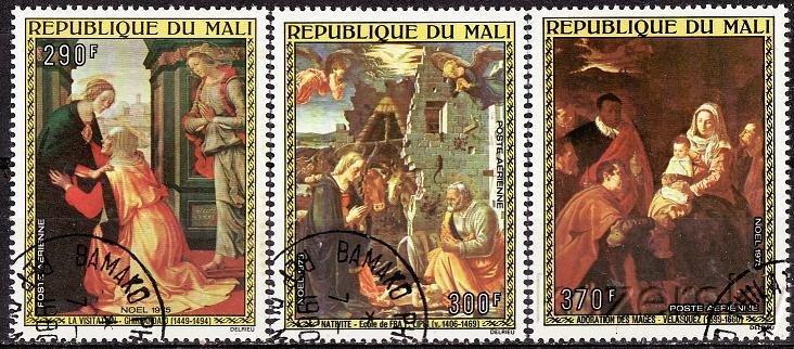 Mali, C267-9, Christmas Stamps 1975