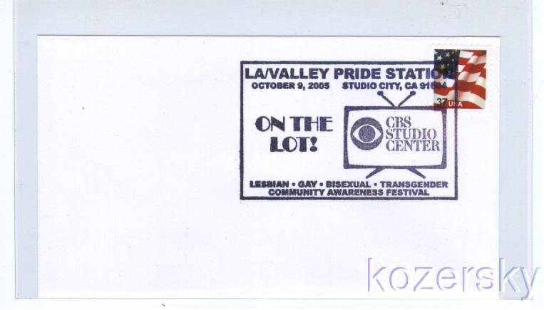 Gay Pride Pictorial Postmark, Topical Cancel