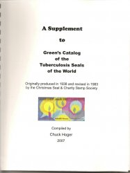 Thumbnail of Green's Catalog, TB Seals, Part 3, Foreign TB Charity Seals, 2007 Supplement