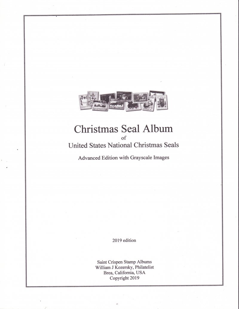 U.S. National Christmas Seal Stamp Album, 1907-2015, Advanced Edition, w/images (white)