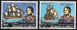 Thumbnail of Djibouti 531-2, Lord Nelson and Victory, Ship, NH