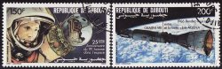 Thumbnail of Djibouti C227-8, Yuri Gagarin, Sputnik Spacecraft, NH