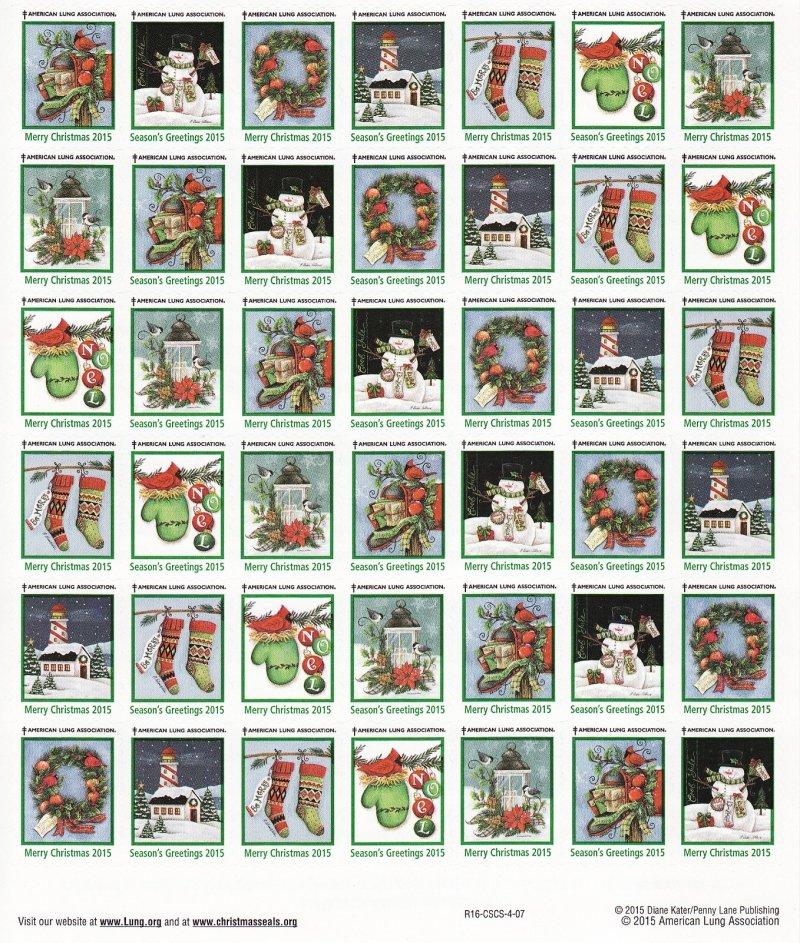 2015-T2x, 2015 U.S. Christmas Seals Test Designs Sheet, R16-CSCS-4-07, back of sheet