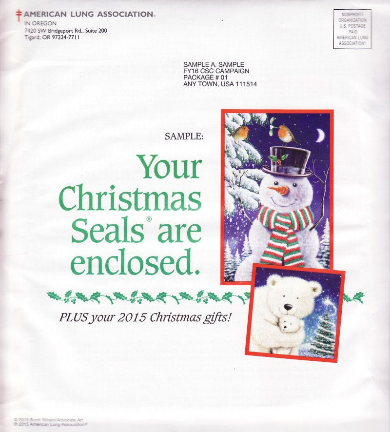 2015 ALA Annual Christmas Seal Campaign Letter