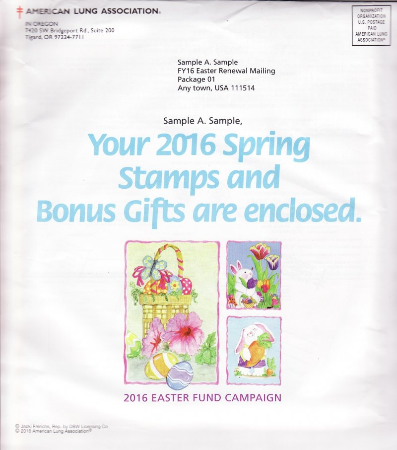 2016 Spring Seal Easter Fund Campaign Letter