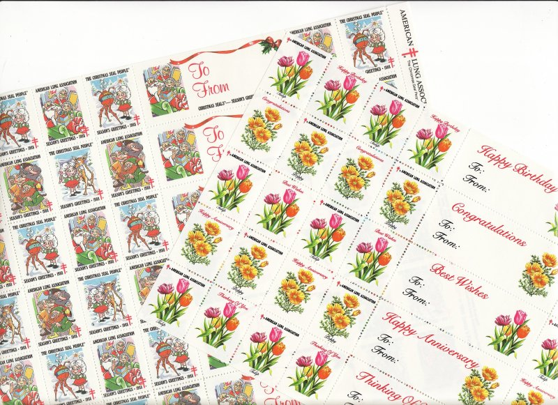 1988-S1x, 1987 U.S. Spring Charity Seals Sheet