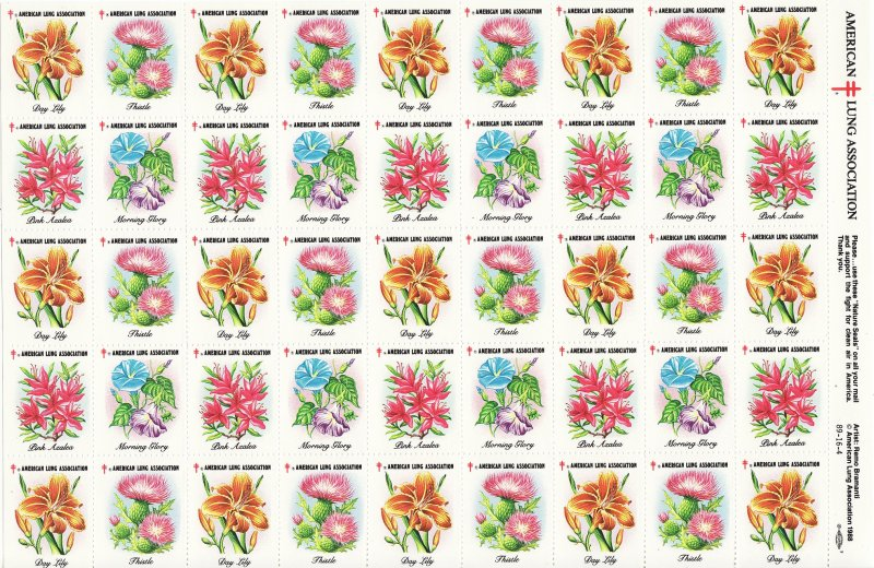 1989-S2x1, 1989 U.S. Spring Charity Seals Sheet, 89-16-4