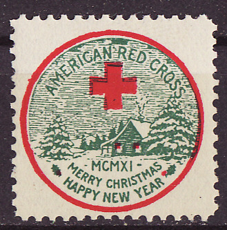 1911-2, WX8, 1911 U.S. Red Cross Christmas Seal, Type 2