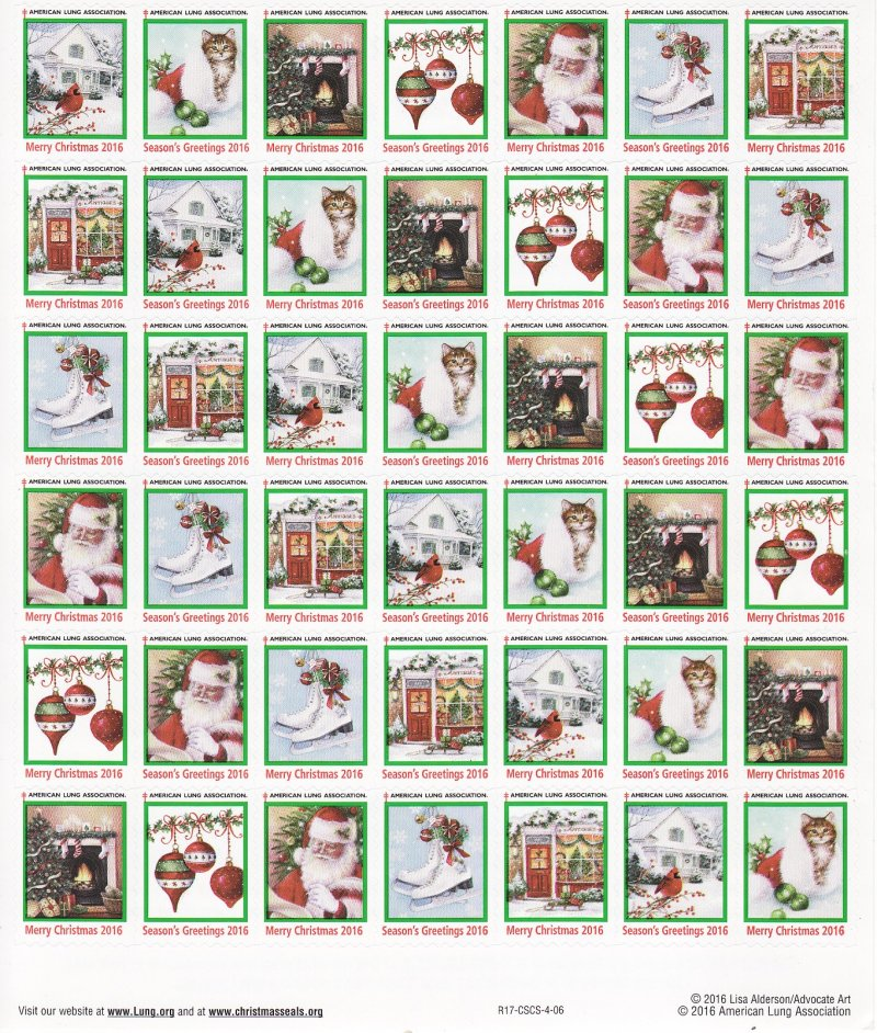 2016-T5x, 2016 U.S. Christmas Seals Test Design Sheet, R17-CSCS-4-12