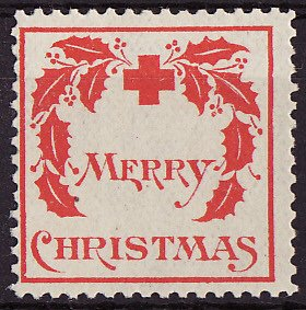 1907-1, WX1, 1907 U.S. Red Cross Christmas Seal, Type 1, Avg