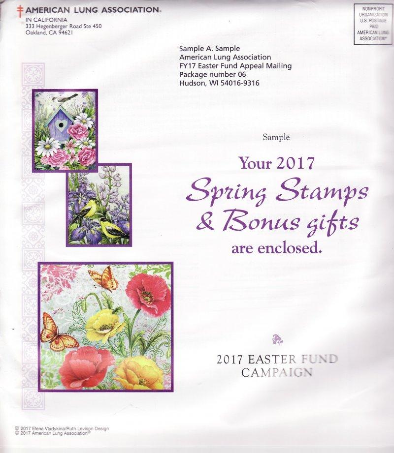 2017 ALA Spring Seal Easter Fund Campaign Letter