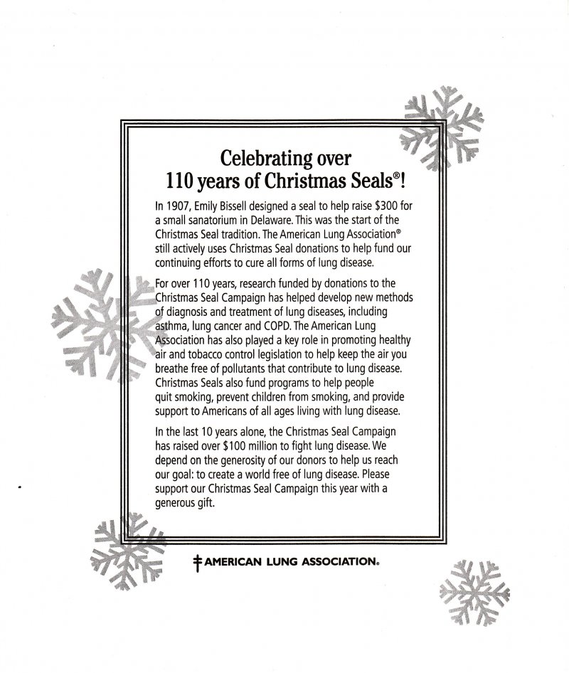 ACL117, 2017 Sample ALA Annual Christmas Seal Campaign Letter