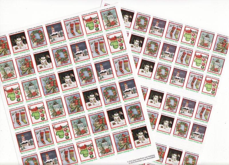 2016-1x2, 2016 U.S. National Christmas Seals Sheet, R17-FU1S-4-01, reverse of sheet