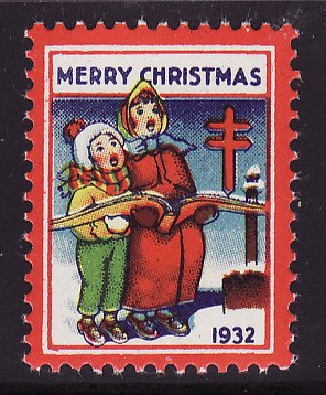 1932-1, WX64a, 1932 U.S. Christmas Seal, perf. 12 1/2 x 12 3/4, with SE