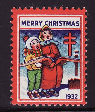 1932-1, WX64, 1932 U.S. Christmas Seal, Plate B, perf. 12 1/2 x 12 3/4, with SE