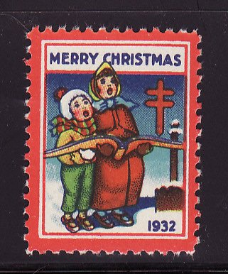1932-3, WX66, 1932 U.S. Christmas Seal, Plate A, perf. 12 1/2, with SE