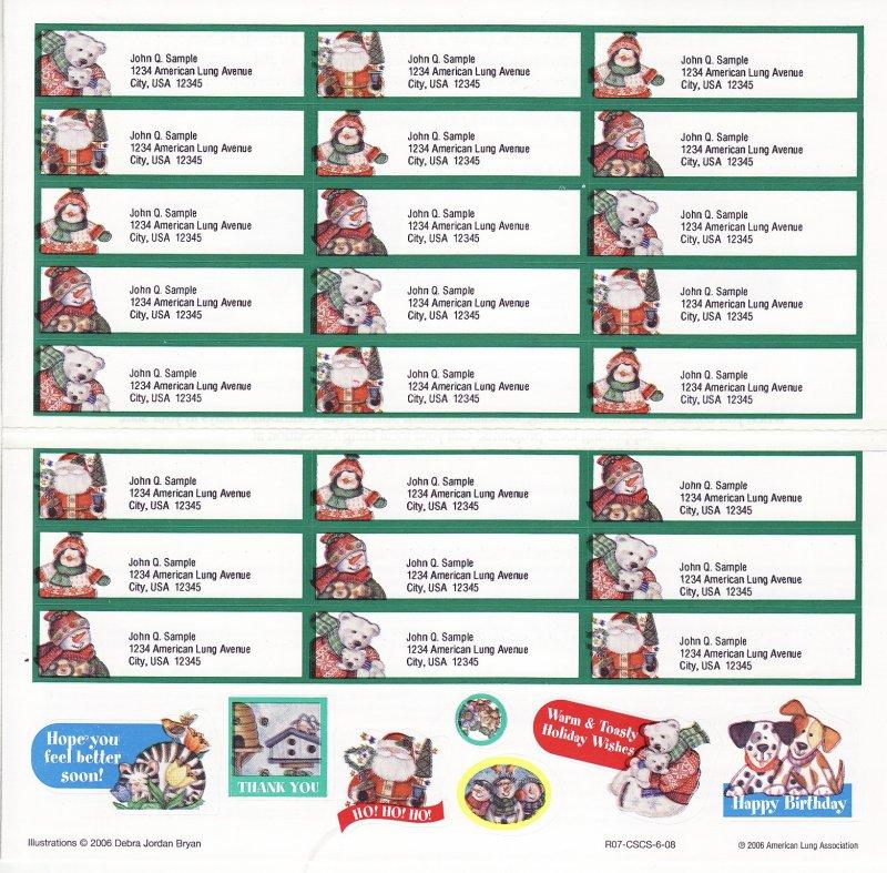 2006-1.6x2, 2006 ALA Address Labels & Stickers, R07-CSCS-6-08, reverse of sheet