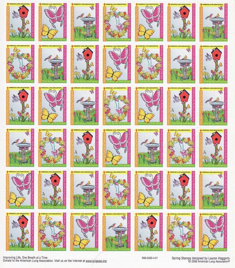 2006-S1x1, 2006 U.S. Spring Charity Seals Sheet, R06-EASS-4-01, reverse of sheet