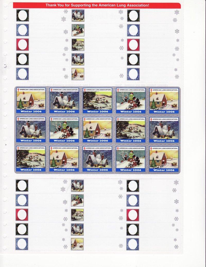 2006-S5xA, 2006 ALA U.S. Spring Charity Seals Sheet, Q06-DECL-4-51, reverse of page 2